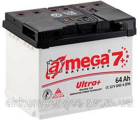Акумулятор автомобільний A-Mega Ultra+ (М7+) 64AH R+ 640A