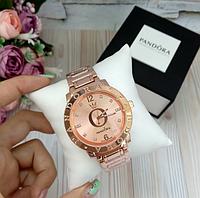 Женские наручные часы Pandora копия класса люкс, жіночі годинники Pandora (золото/розовый)