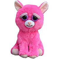 Интерактивная игрушка Feisty Pets Добрые Злые зверюшки Розовая Кошка 20 см