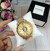 Женские наручные часы Pandora копия класса люкс, жіночі годинники Pandora (золото)