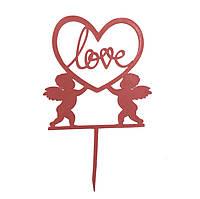 """Топпер """"Love"""" рожевий"""