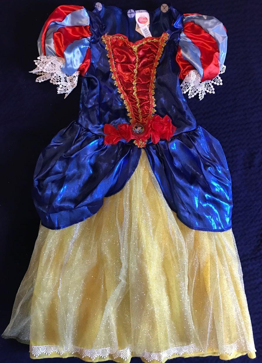 Костюм  Белоснежки с пышной юбкой в блестках Disney Princess Girls Snow White (Размер 4-7 лет) (США)