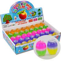 Детская игрушка! Двухцветный слайм в виде яблочка