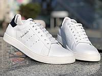 Adidas Stan Smith мужские белые кожаные кроссовки. Мужские кроссовки адидас стен смит. Размеры 40-45