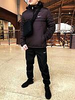 Анорак утепленный, куртка утепленная, ветровка утепленная коричневая