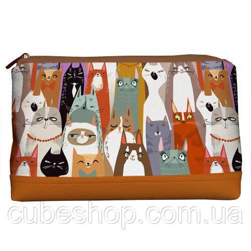 Косметичка дорожная женская «Lovely» Коты