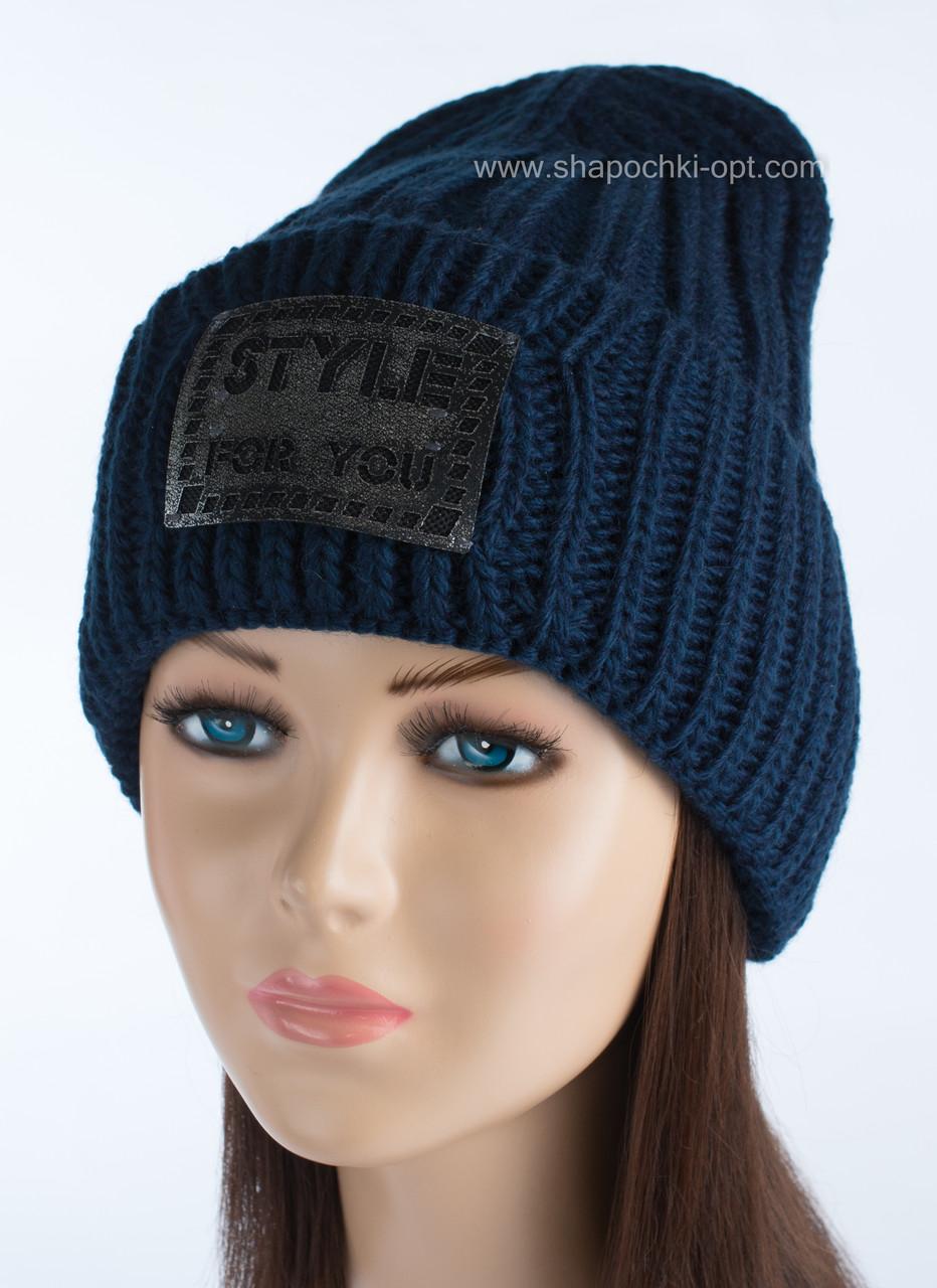 Синяя шапка-колпак Анна