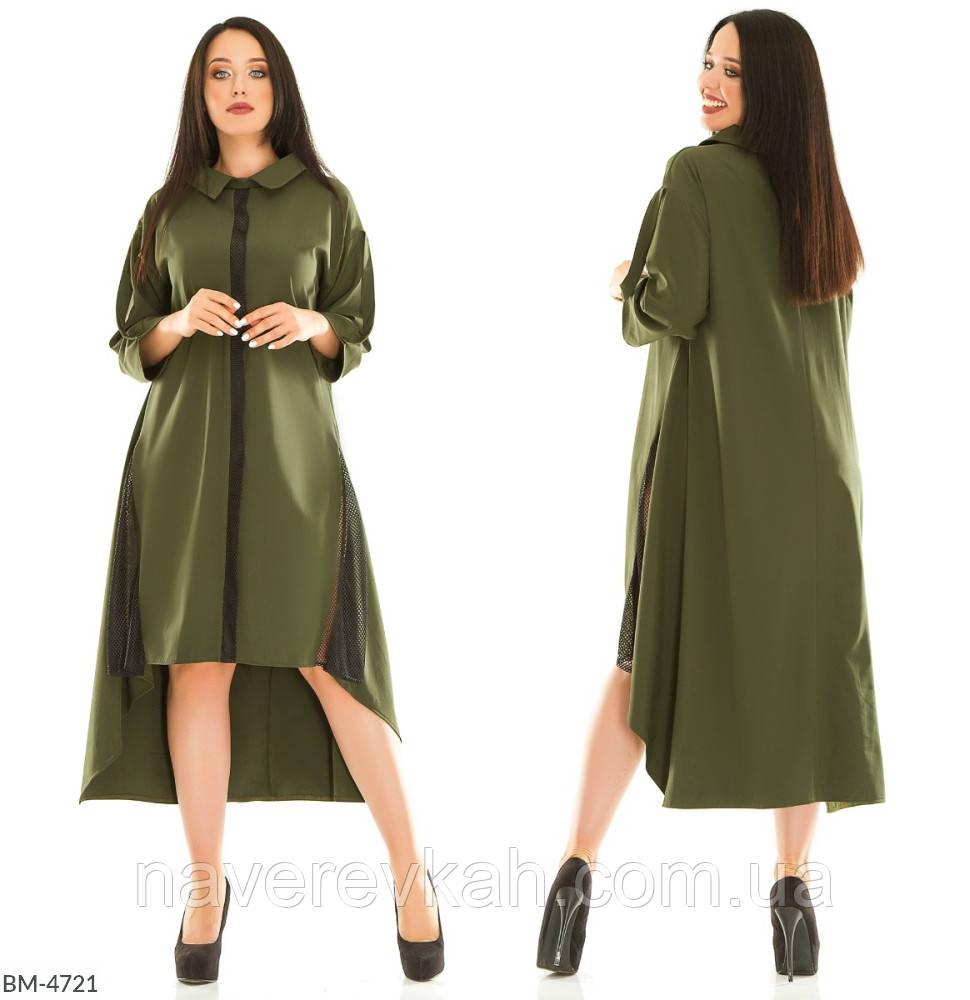 Женское платье хаки джинс красное черное 50-52 54-56 58-60 62-64 66-68 70-72