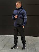 Анорак утепленный, куртка утепленная, ветровка утепленная синий