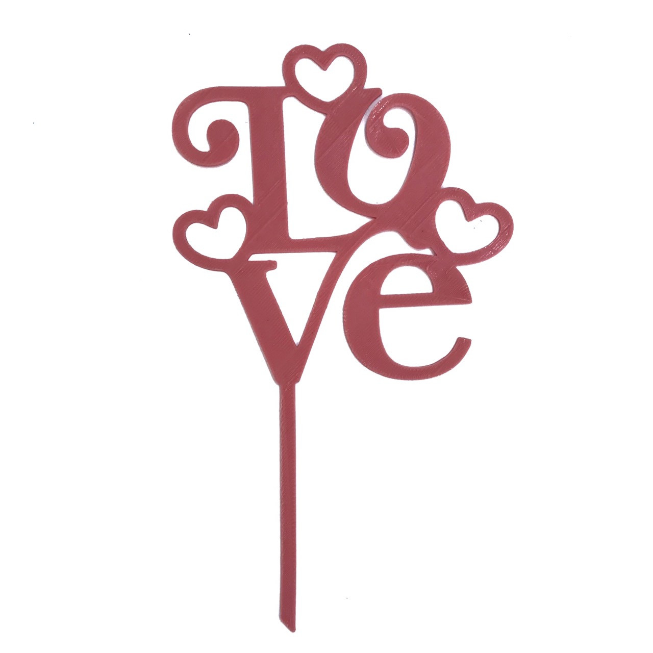 "Топпер ""Love"" розовый"