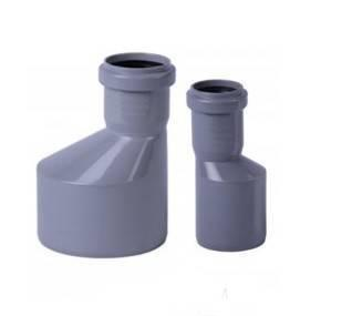 Перехідник для внутрішньої каналізації Інсталпласт 50/32 (сірий)
