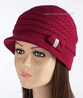 Элегантная шапка для женщин Марго цвет вишневый