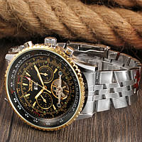 Мужские механические часы Jaragar Luxury с хронографом и тахиметром