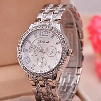 Женские кварцевые часы Geneva Silver