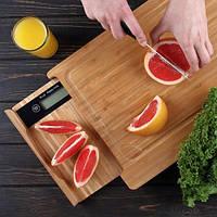 Весы кухонные с разделочной доской S BUTTON (GL-ZB03)