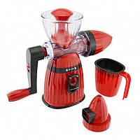 Соковыжималка и мороженица ручная 2 в 1 Kitchen Master LMY 662 Красная