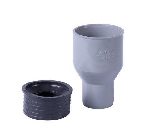 Перехідник для внутрішньої каналізації гумовий Інсталпласт 110/124 (сірий)