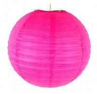Бумажный шар-фонарь малиновый 30см 15146