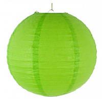 Бумажный шар-фонарь салатовый 30см 15148