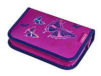 Пенал Herlitz на 31 предмет Butterfly Glitter Бабочки