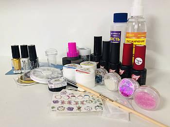 """Набор материалов и декора для дизайна ногтей «Декор+"""""""