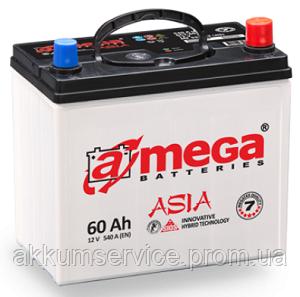 Акумулятор автомобільний A-Mega Asia 60AH R+ 540A