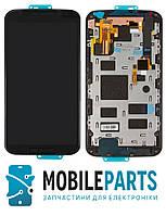 Дисплей для Motorola Moto X2 | XT1092 | XT1093 | XT1094 | XT1095 | XT1096 | XT1097 с сенсором в рамке (Черный)