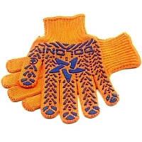 Перчатки рабочие «Звезда» (трикотаж 40% хлопок, оранжевые)