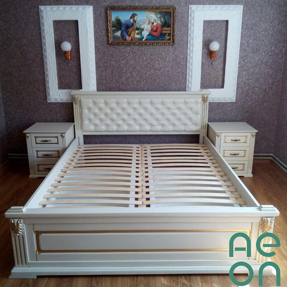"""Кровать двуспальная """"Прайм"""" 160*200 мягкое изголовья"""