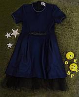 "Платье на девочку ""Вероника"", р. 122-146, синий, фото 1"