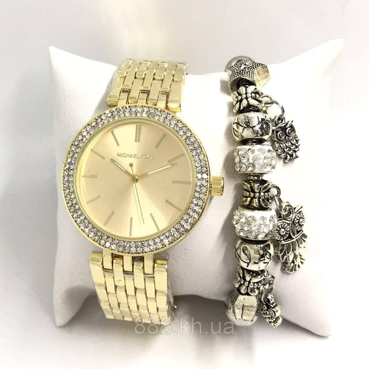 Женские наручные часы Michael Kors копия класса люкс, жіночі годинники Michael Kors (золото)