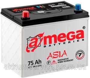 Акумулятор автомобільний A-Mega Asia 75AH L+ 690A