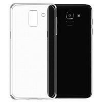 Чехол Ou Case для Samsung Galaxy J6 Unique Skid Silicone, Transparent