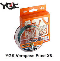Шнур YGK Veragass Fune X8 - 150m #0.6/5.2kg 10m x 5 colors