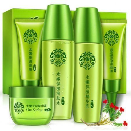 Дорожный набор для лица Herbal One Spring на основе 6 экстрактов целебных трав для проблемной кожи (5шт)