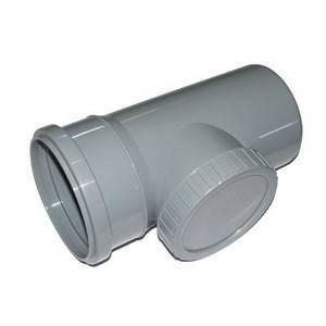 Ревизия для внутренней канализации Инсталпласт 110 (серая)