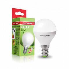 EUROLAMP LED Лампа ЕКО серія  G45 5W E14 3000K