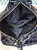 """Рюкзак женский """"Парис"""" натуральная кожа, синий камуфляж флотар, фото 5"""