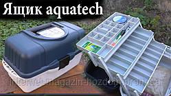 Контейнер, органайзер, ящик рыболовный 3 полки Aquatech 2703 с ручкой для транспортировки (К)