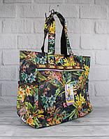 Сумка шоппер большая LeSportsac 9802-04 цветочная текстильная