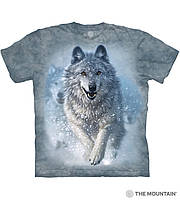 3D футболка мужская The Mountain р.L 52-54 RU футболки с 3д принтом рисунком - Рассекающий снег