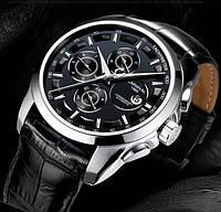 Мужские механические часы Carnival Genius с сапфировым стеклом, 25 камней