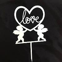 "Топпер ""Love"" білий"