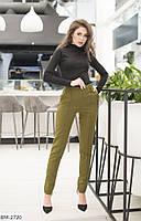 Женские зауженные брюки черные темно-синие хаки бордо темно-зеленые 42 44 46 48, фото 1