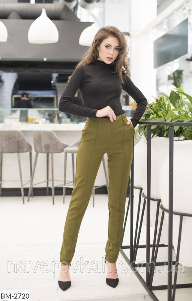 Женские зауженные брюки черные темно-синие хаки бордо темно-зеленые 42 44 46 48