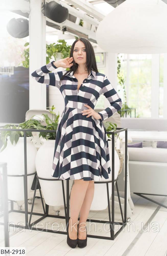 Женское платье Кубики большого размера красный хаки синий 50 52 54 56