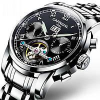 Мужские механические часы с сапфировым стеклом Carnival First (25 камней)