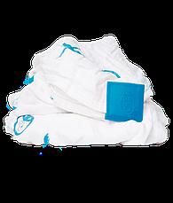 Подарочный набор BLUE (100% органическая пеленка Muslin 70х70см, прорезыватель 14см, мягкая игрушка 30см), фото 2