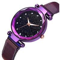 Женские классические часы Baosaili Glamour Purple с магнитной застежкой