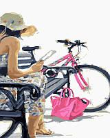 Картина по номерам Девушка с розовой сумочкой 40х50см Brushme GX23619(в подарочной коробке)